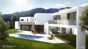 SOLIDWORKS Visualize Architectural Example 3