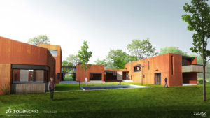 SOLIDWORKS Visualize Architectural Example 9